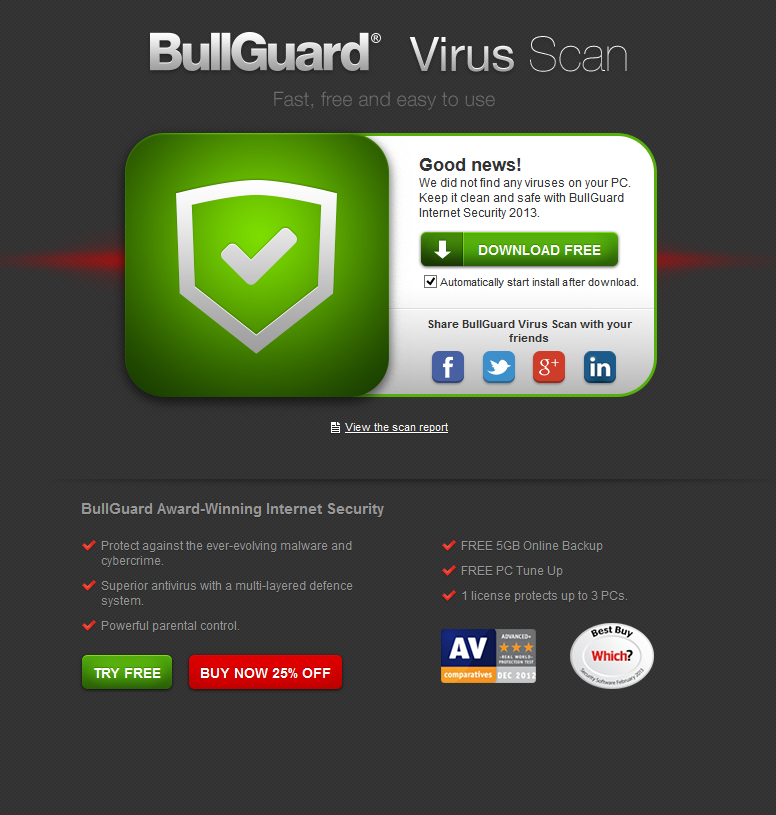 Viral News Online Home: BullGuard Launches FREE Online Virus Scan To Detect The